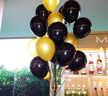 Gold Siyah Uçan Balon